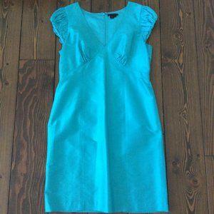 Simon Chang 14 100% Silk Teal Dress